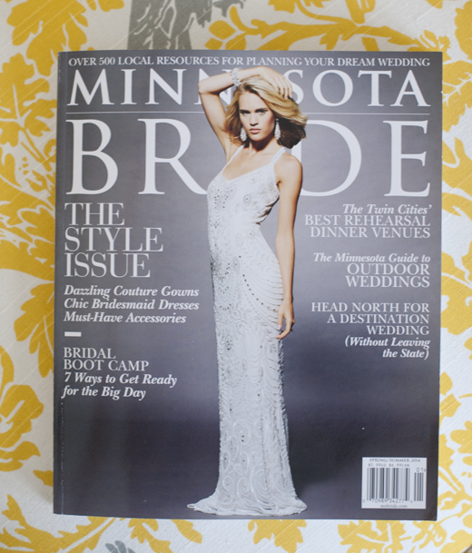 My photos featured in mn bride magazine tiffany bolk for How to get my photographs published