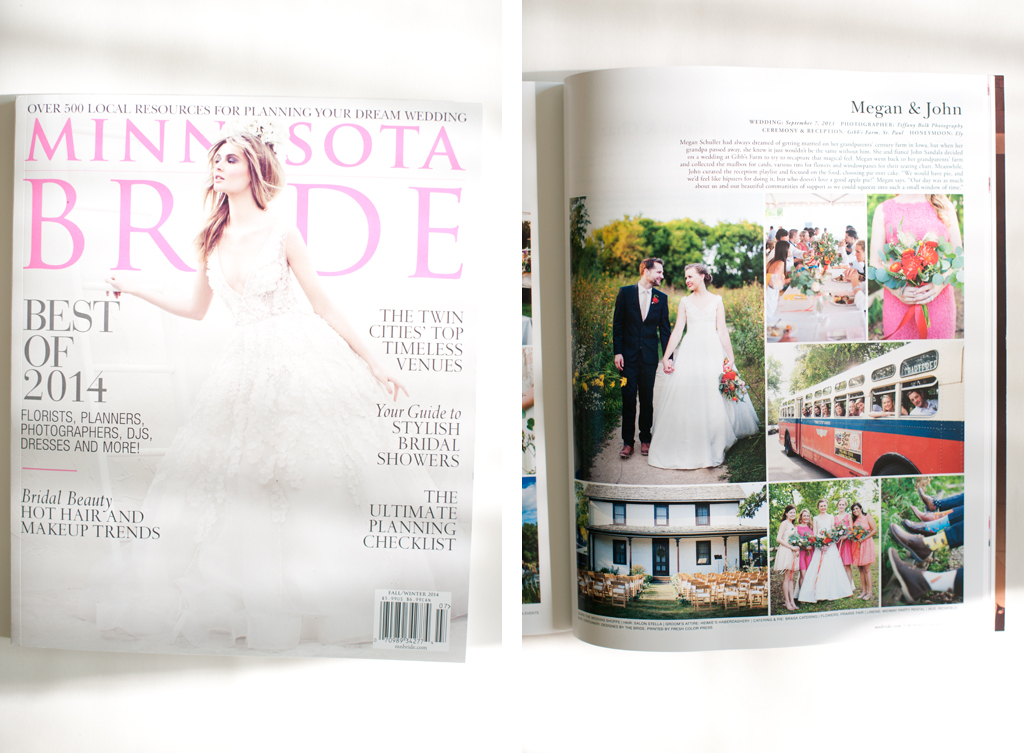 Tiffany Bolk Photography Published in Minnesota Bride Magazine