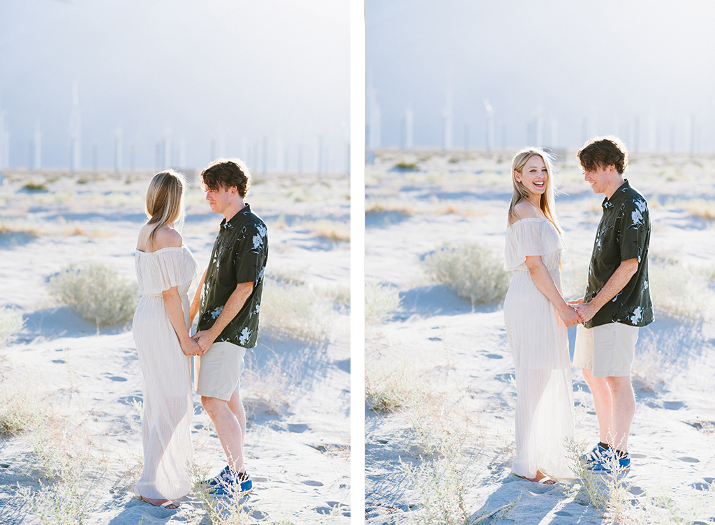 Palm Springs Windmill Farm Engagement Session Kelly