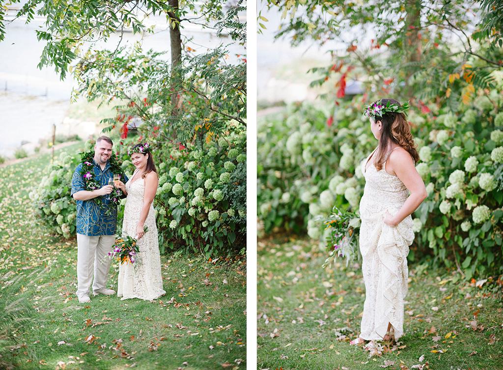 Hawaiian Themed Backyard Wedding Serenity Sean