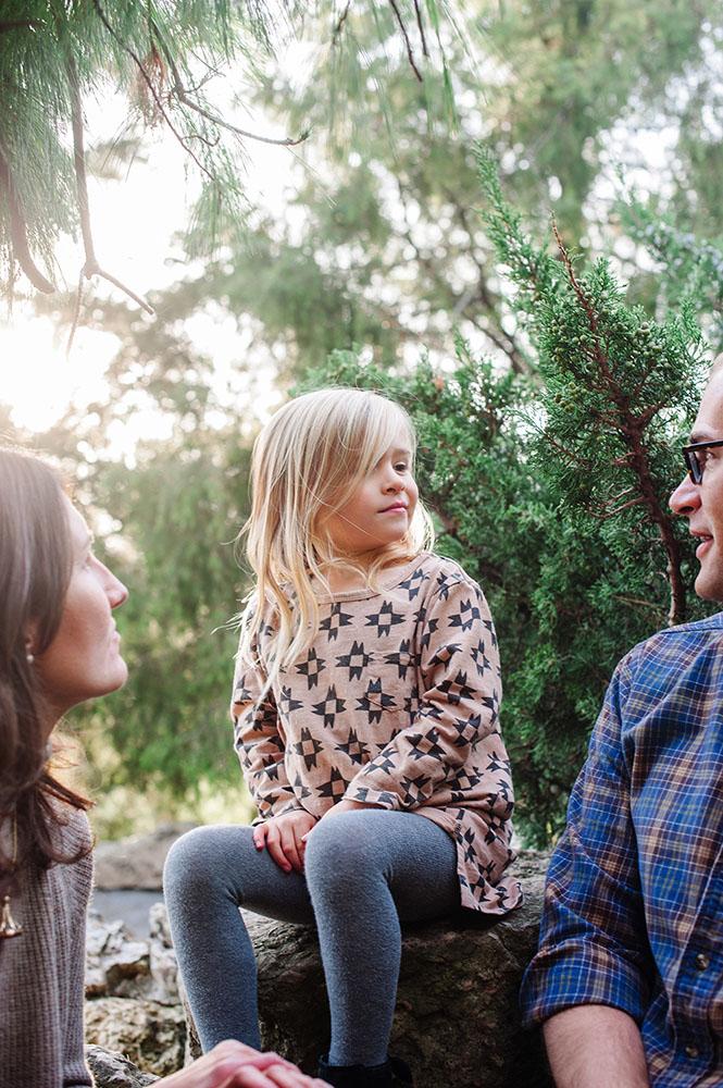 Family photo in Minneapolis Peace Garden